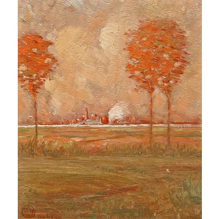 Arts and Crafts Landscape Oil Painting For Sale