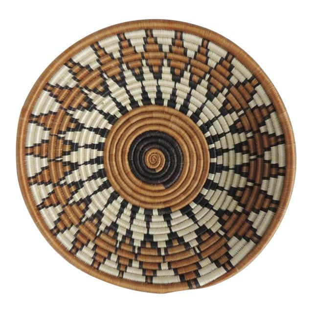 Vintage Round African Basket - Image 1 of 4