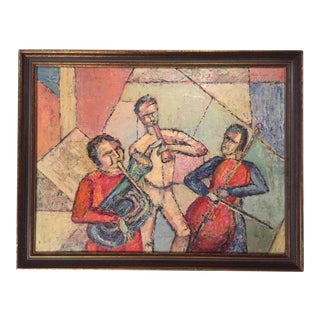Mid-Century Modern Abstract Jazz Painting For Sale