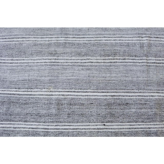 "Turkish Vintage Flat-Weave Textile - 7'3"" X 10' - Image 3 of 4"