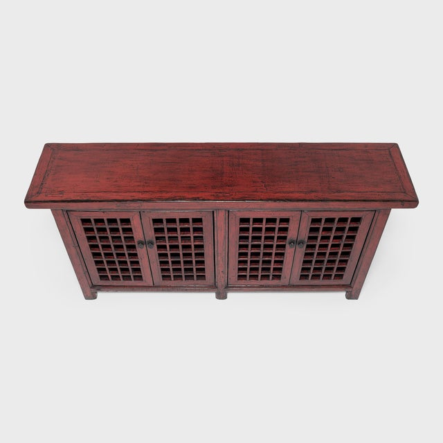 Chinese Courtyard Lattice Coffer For Sale In Chicago - Image 6 of 9
