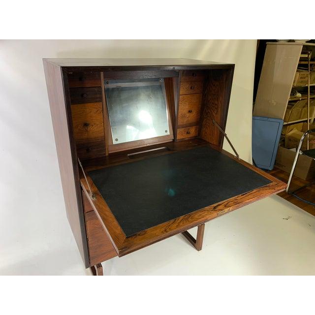 1960s Mid-Century Modern Arne Hovmand Olsen for Mogens Kold Mobelfabrik Rosewood Secretary Desk For Sale - Image 10 of 13