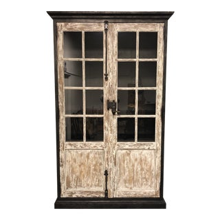 Marion Display Cabinet by Restoration Hardware For Sale