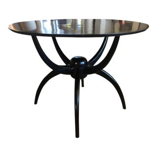 Contemporary Custom Ebonized Spider Table For Sale