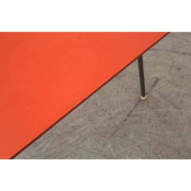 Retro Red Triangle Side Table - Image 10 of 11