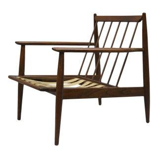 Baumritter Walnut Mid Century Modern Lounge Club Chair Danish Vintage Armchair