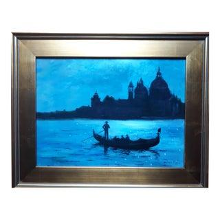 """Venice """"La Salute"""" Original Oil Painting by Antonio Pippa Includes Coa For Sale"""