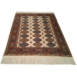 Vintage Persian Turkeman Hand Made Rug - 4x6