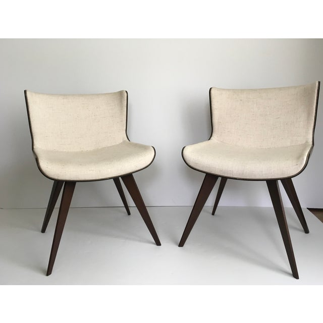 Mid-Century Style Wood Wrapped Accent Chairs- a Pair For Sale - Image 13 of 13