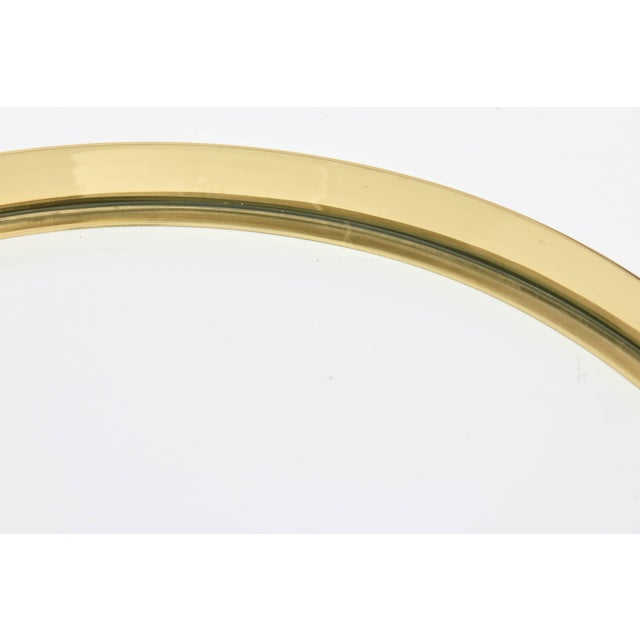 Brass Mid-Century Brass and Glass Italian Modernist Tray For Sale - Image 8 of 11