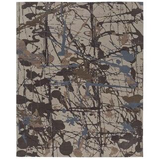 ModernArt - Customizable Lapis Rug (12x15) For Sale