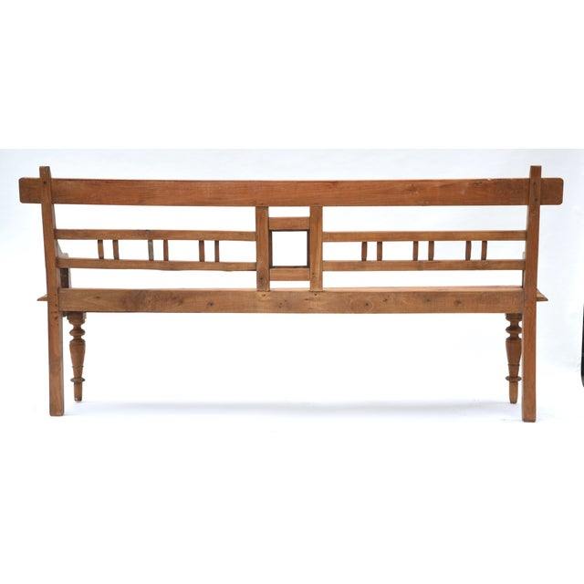 Early 20th Century Antique Teak Country Bench For Sale - Image 5 of 7