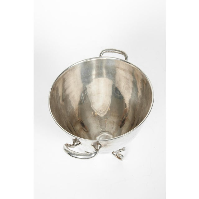 1930s Vintage Silver Plate Legged Ice Bucket or Cooler For Sale - Image 5 of 11