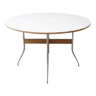 Mid Century Modern White Herman Miller Swag Leg Table