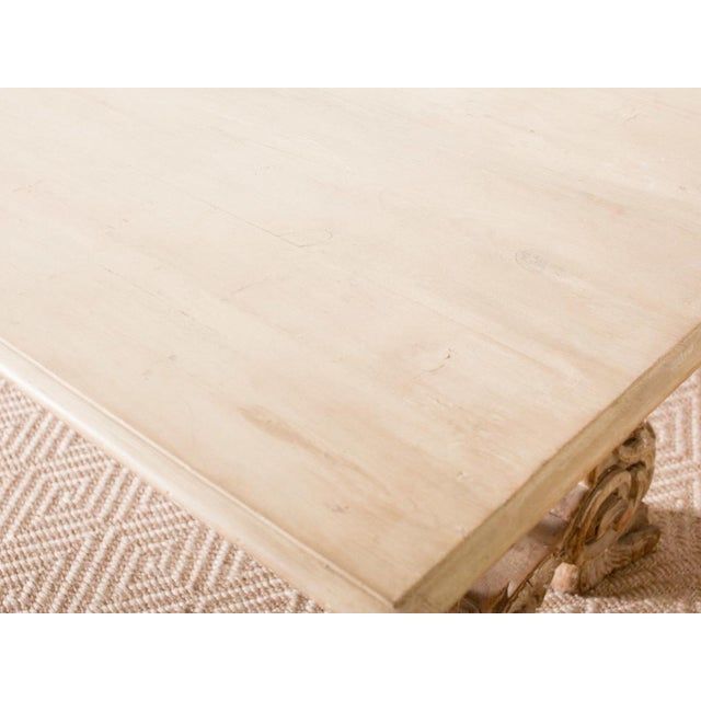 Antique Trestle Table For Sale - Image 4 of 8