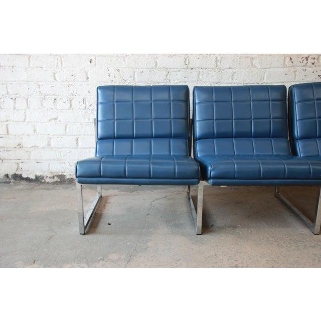 1970s Vintage Chromcraft Milo Baughman Style Three-Seat Sofa For Sale - Image 5 of 11