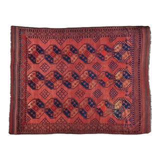 Early 20th Century Antique Afghan Elephant Feet Design Pure Wool Rug - 8′1″ × 10′2″ For Sale