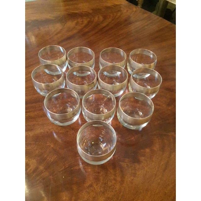"""Dorothy Thorpe 12 Peace Water Glasses 3"""" W 3"""" Tall"""
