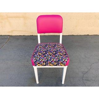 1960s McDowell Craig Steel Side Chair, Refinished With Retro Fabric Preview