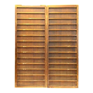 Japanese Itado Cedar Wooden Doors - a Pair For Sale