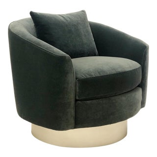 Bernhardt Camino Swivel Barrel Chair For Sale