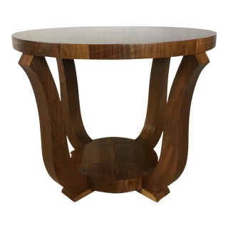 20th Century Art Deco Round Two-Tiered Side Table For Sale