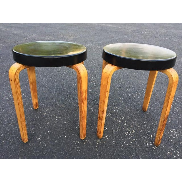 SOLD-Authentic Thonet Stacking Stool Tables - a Pair For Sale - Image 10 of 11