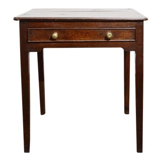 George III Oak Side Table For Sale