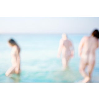 "Cheryl Maeder ""Les Copines Meditation"" Archival Photographic Watercolor Print For Sale"