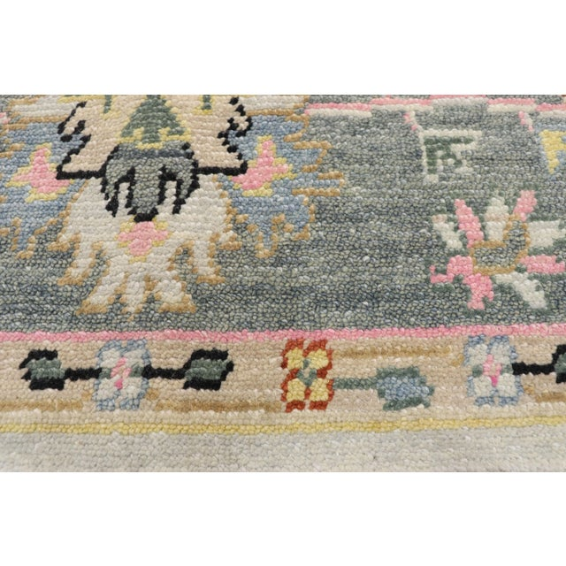 Contemporary Oushak Transitional Area Rug - 9′ × 12′7″ For Sale - Image 4 of 10