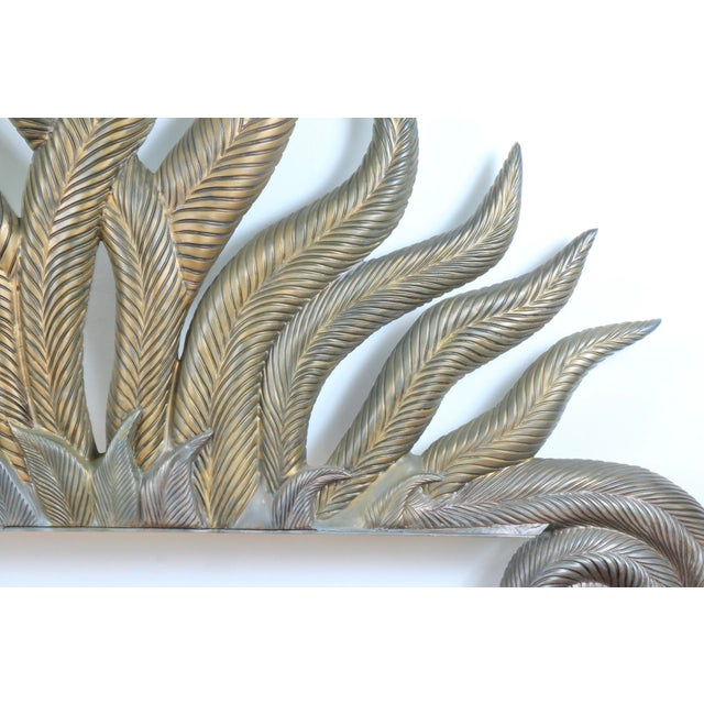 Hollywood Regency Fiber Glass Headboard For Sale In Los Angeles - Image 6 of 13