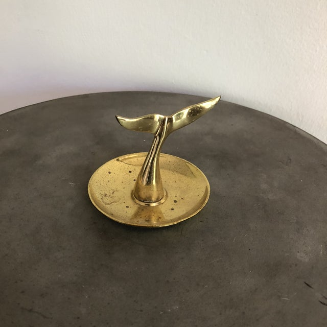 Vintage Brass Whale Tail Catchall Dish For Sale In Los Angeles - Image 6 of 8