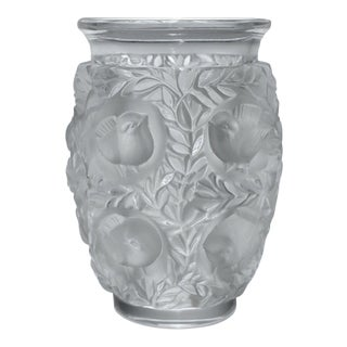 Lalique Bagatelle French Frosted Art Glass Vase For Sale