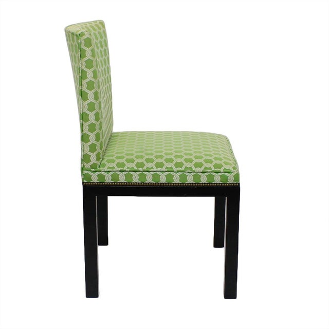 Green Accent Chairs - A Pair - Image 4 of 7