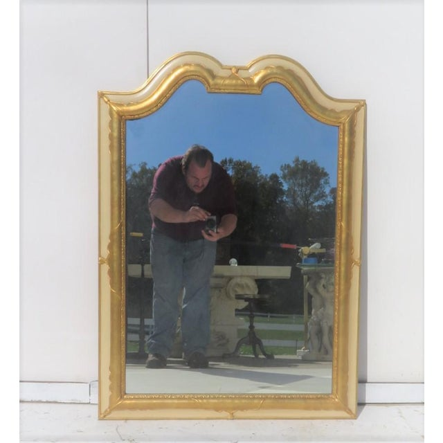 D. Milch & Sons Gold Gilt and Cream Mirror with swag designs