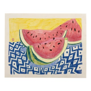 """Watermelon Wedges"" Drawing For Sale"