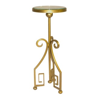 "Gold Greek Key 9"" Martini Table"