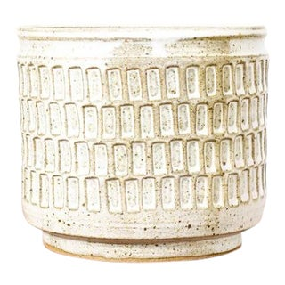 Danish Modern Ceramic Stoneware Planter For Sale