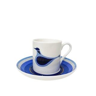Blue Bird Espresso Cup Set For Sale