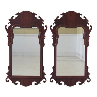 Hickory White Chippendale Mahogany Mirrors - a Pair For Sale
