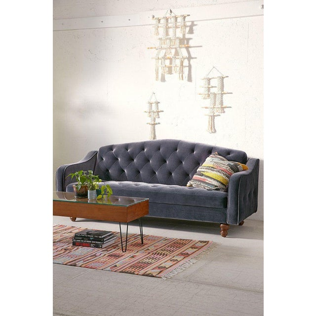 Ava Velvet Tufted Sleeper Sofa For Sale - Image 4 of 4