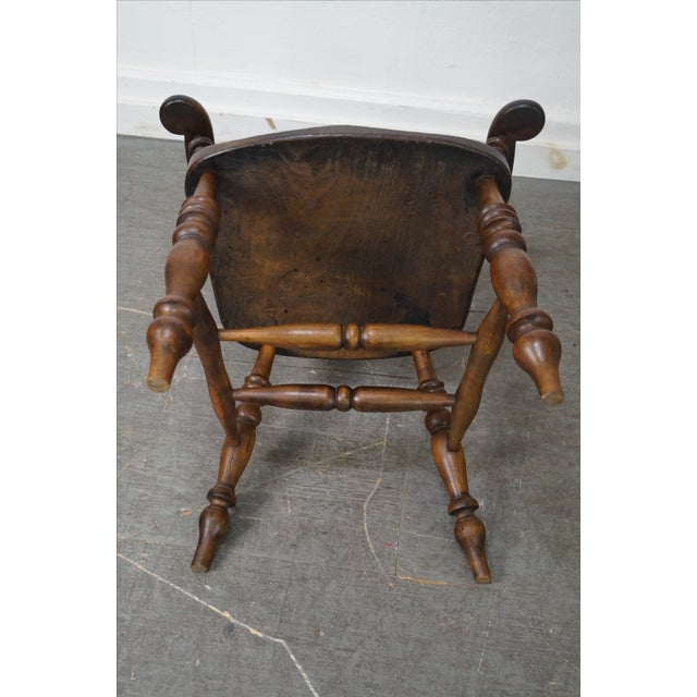 Antique 19th C. English Yew Wood Windsor Arm Chairs - Pair - Image 10 of 10
