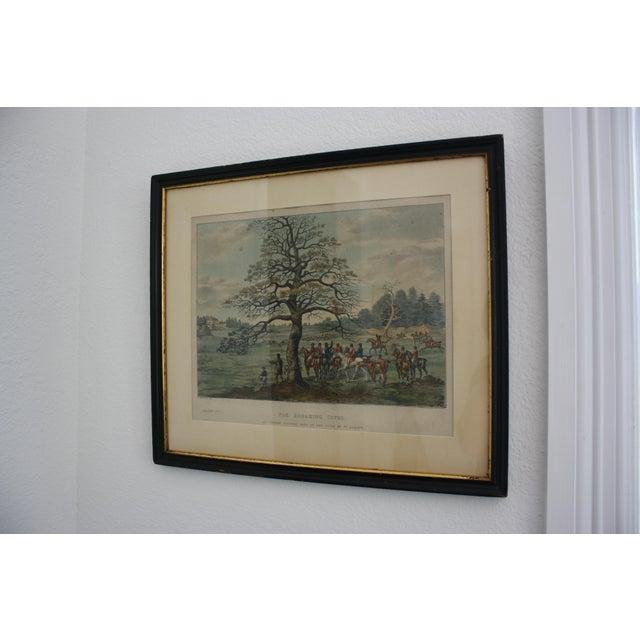 Glass 1824 Tinted Framed Engraving After Dean Wolstenholme Jr [British 1798-1882] For Sale - Image 7 of 7
