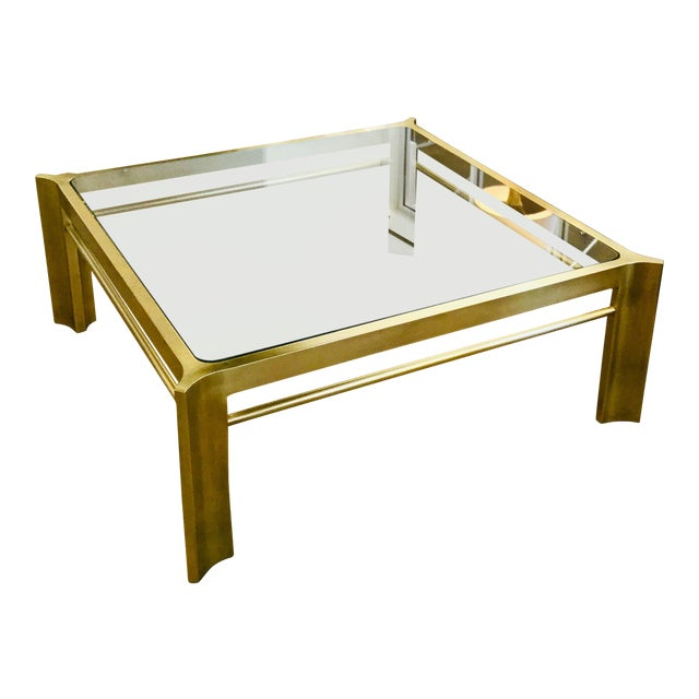 Mid-Century Modern Square Mastercraft Coffee Table For Sale