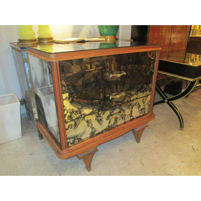Italian Whimsical Italian Mirrored Chest of Drawers For Sale - Image 3 of 9