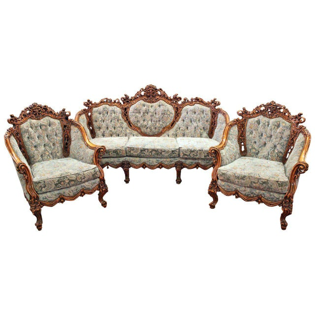 Rococo Parlor Suite - Set of 3 For Sale In Los Angeles - Image 6 of 6