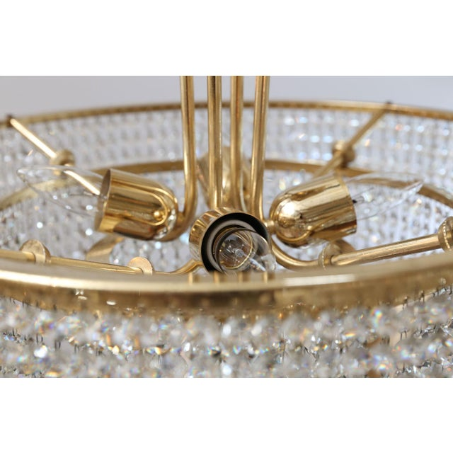 Gold Bakalowits Three-Tier Flush Mount Light For Sale - Image 8 of 9