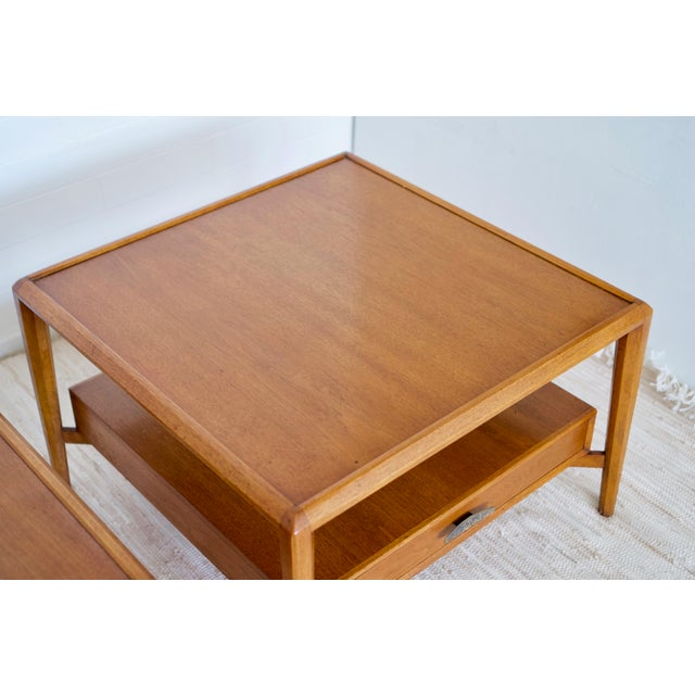 Mid Century Coffee Table And End Tables: Vintage Mid-Century Drexel Heritage Solid Walnut End