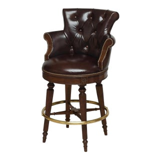 Scarborough House Mahogany Upholstery Bar Stool For Sale