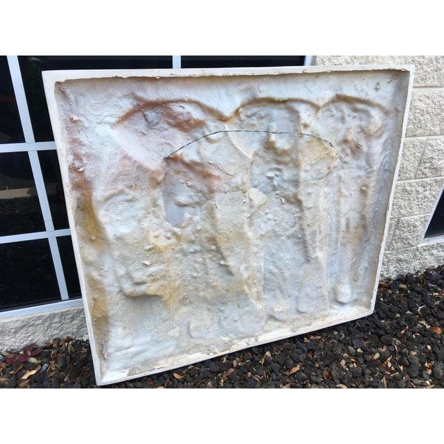 Modern Modern Figural Fiberglass Wall Sculpture/Art For Sale - Image 3 of 11